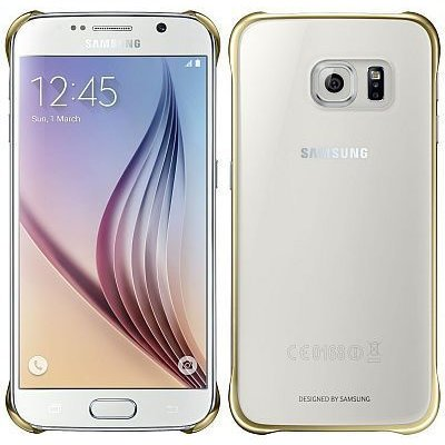 Samsung etui Clear Cover Gold do Galaxy S6 złoty