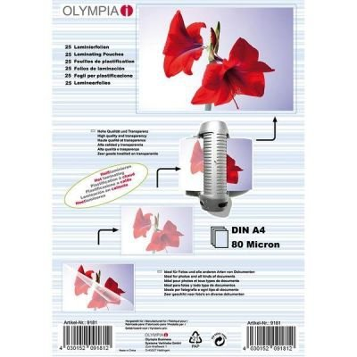 1x25 Olympia Laminating pouches DIN A4 80 micron