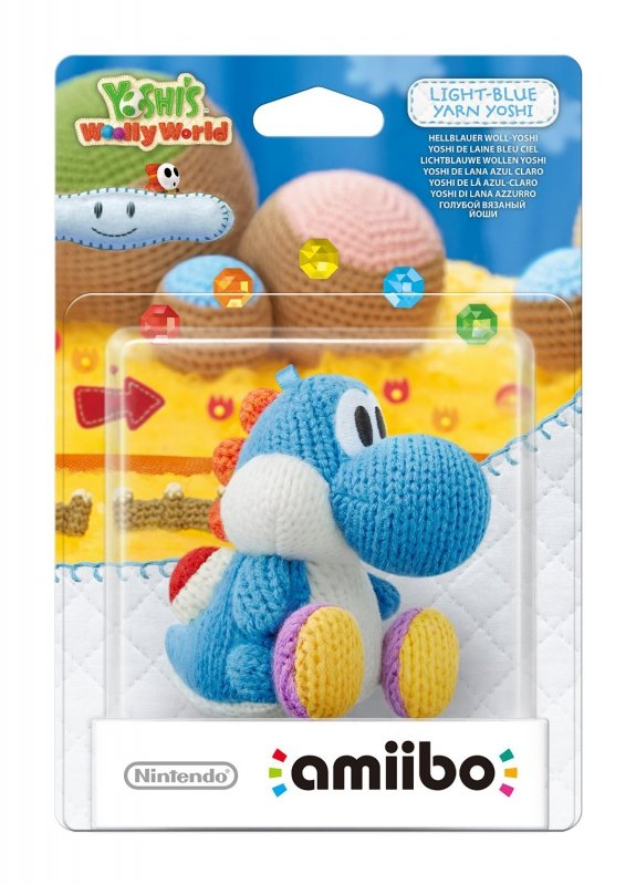 Nintendo amiibo Woolly World Light-Blue Yarn Yoshi