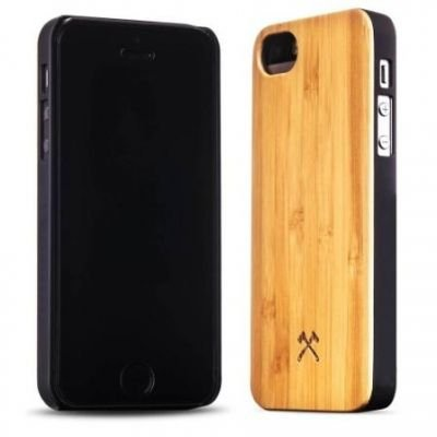 Woodcessories EcoCase Classic iPhone 5 5s SE bamboo+black