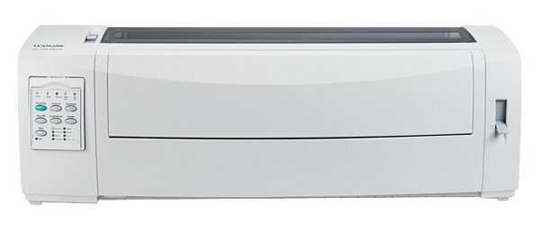 Lexmark 2581n+, drukarka igłowa biały/grau, USB/PAR/LAN