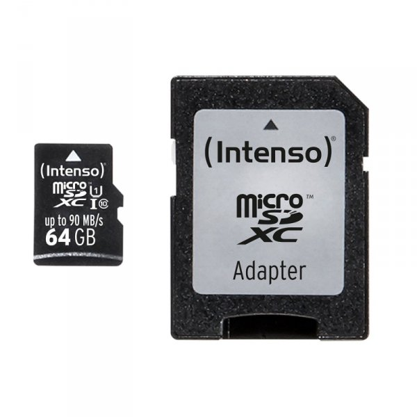 SD MicroSD Card 64GB Intenso SD-HC UHS-I Professional