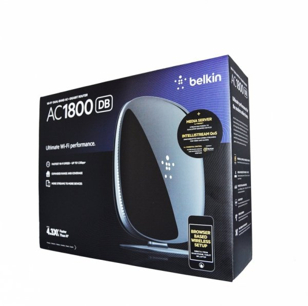Belkin AC1800 - Wi-Fi Dual-Band AC+ Gigabit Router - 2x USB