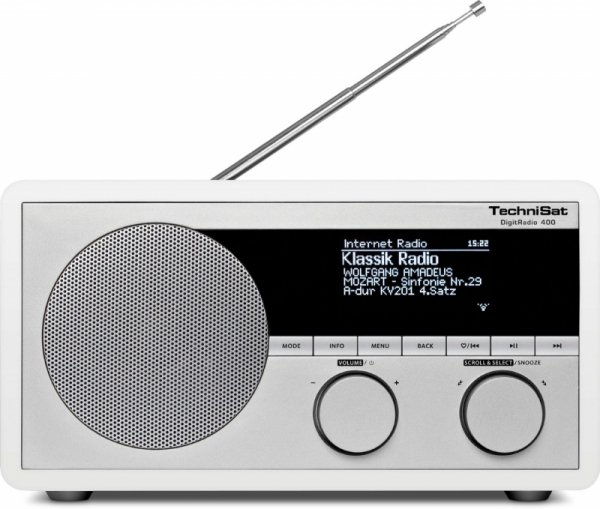 TechniSat DigitRadio 400 DAB+ Internetradio WLAN Blutooth biały