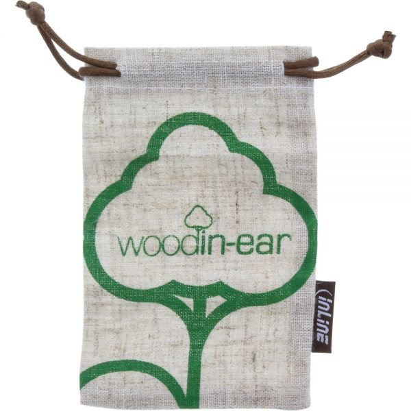 InLine®  Woodline wood in-ear słuchawki