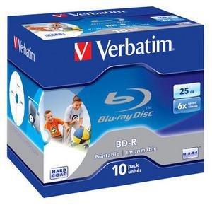 Verbatim BD-R 25GB 6x, 10 szt., printable