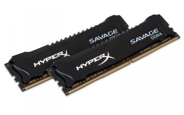 Kingston HyperX 16 GB DDR4-2400 Kit, HX424C12SB2K2/16, Savage
