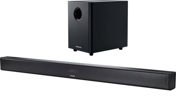 Grundig GSB 980 (czarny) - 2.1 Soundbar  (350 Watt, Bluetooth, Wireless Subwoofer, HDMI)