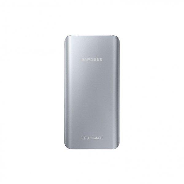 Samsung Powerbank 5.200 mAh 2A Micro-USB-Kabel/USB-Port silver