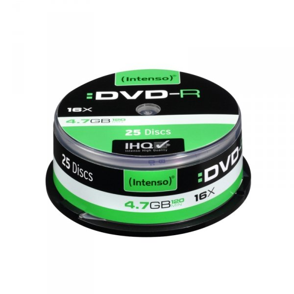 1x25 Intenso DVD-R 4,7GB 16x Speed, Cakebox