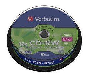 Verbatim CD-RW 700 MB 10x, 10 Szt.