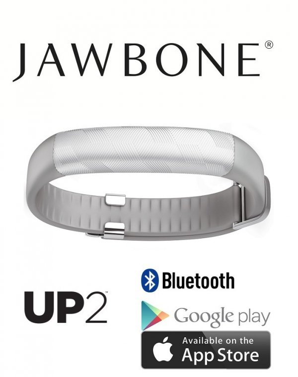 Jawbone UP2 Light Grey Hex