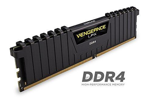 Corsair  16GB DDR4-2400 Kit, czarny, CMK16GX4M2A2400C16, Vengeance LPX