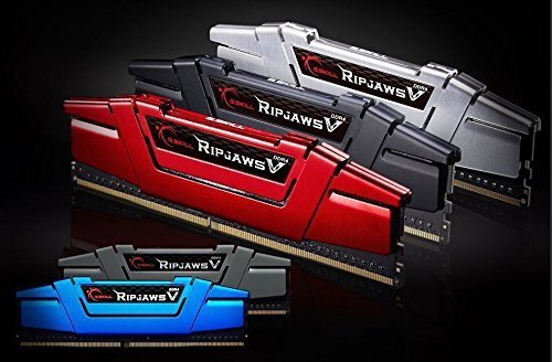 G.Skill 16GB DDR4-2666 Kit, czerwony F4-2666C15D-16GVR, Ripjaws V