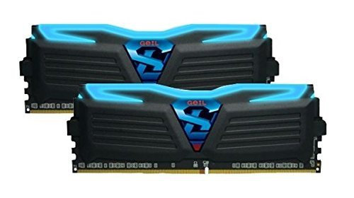 GeIL 16 GB DDR4-3000 Kit, czarny/niebieski GLB416GB3000C15ADC, Super Luce