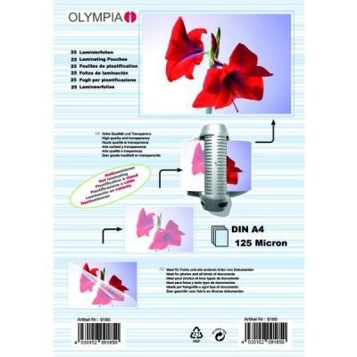 1x25 Olympia Laminating pouches DIN A4 125 micron