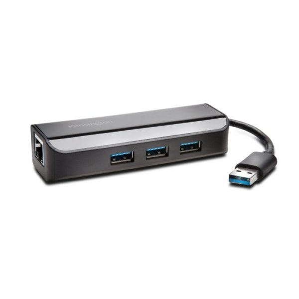 Kensington Hub USB 3.0 3Port + Ethernet black - K33982WW