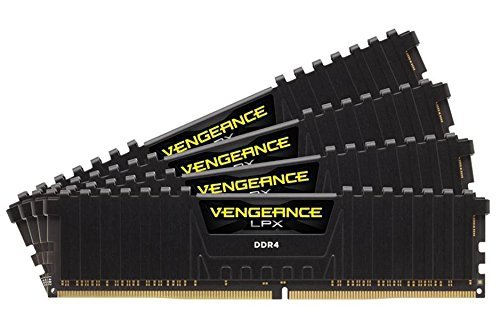 Corsair  32 GB DDR4-2400 Quad-Kit, czarny, CMK32GX4M4A2400C16, Vengeance LPX