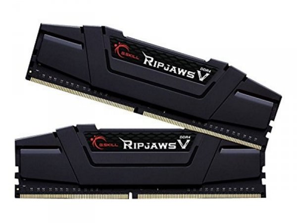 G.Skill 32 GB DDR4-3200 Kit, czarny, F4-3200C15D-32GVK, Ripjaws V