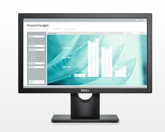 Dell E1916H, LCD-Monitor czarny, DisplayPort, VGA