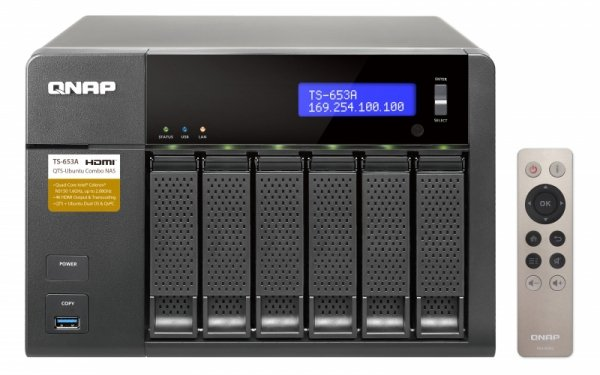 Qnap Turbo Station TS-653A-4G [0/6 HDD/SSD , 4x Gigabit-Lan, 4x USB]