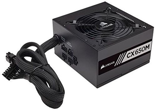 Corsair CX650M, czarny, 4x PCIe, Kabel-Management