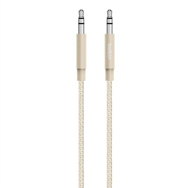 Belkin Premium MixIt 1,2 m Audio Cable 3,5mm gold AV10164bt04-GLD