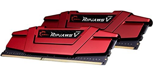 G.Skill 16GB DDR4-2400 Kit, czerwony F4-2400C15D-16GVR, Ripjaws V