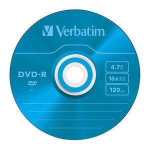 Verbatim DVD-R 4,7 GB 16x, 5 szt., Color