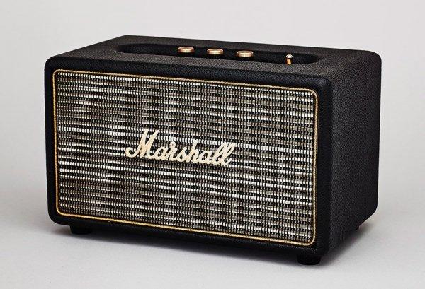 Marshall Acton (czarny) - aktywny głośnik stereo (Bluetooth V4.0, aptX, Line-In)