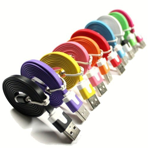 goobay USB A - B micro płaski biały 1m