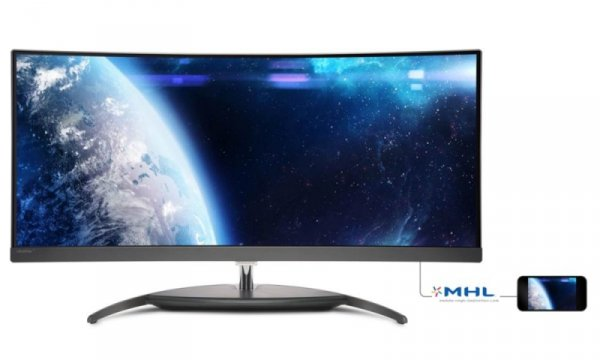 Philips BDM3490UC/00, czarny/grau, HDMI, DisplayPort, USB 3.0