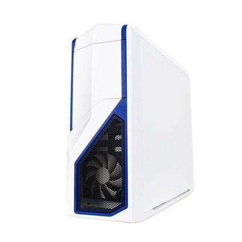 NZXT Phantom 410 biały/niebieski, Tower biały, Window-Kit