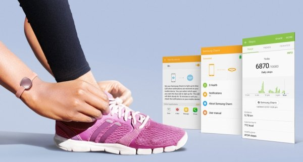 Samsung Opaska fitness Charm LCD różowa