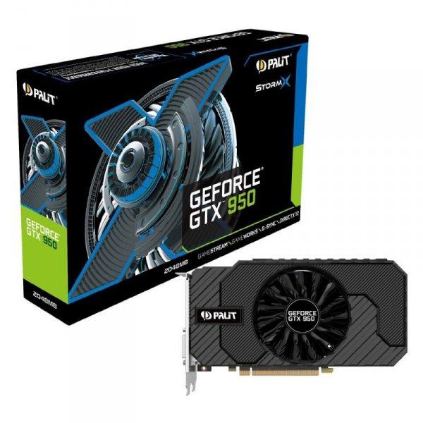 Palit GeForce GTX 950 StormX Dual  2GB GDDR5, 2x DVI, HDMI, DisplayPort