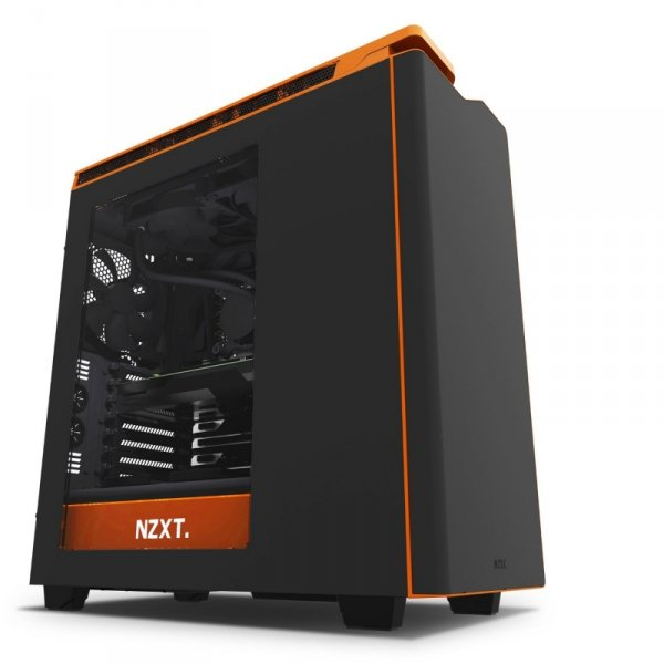 NZXT H440 czarny/orange, Tower czarny/orange, Window-Kit