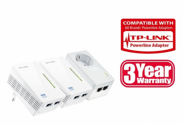 TP-LINK TL-WPA4226T KIT v2 - Powerline - 2x TL-WPA4220 - 1x TL-PA4020P