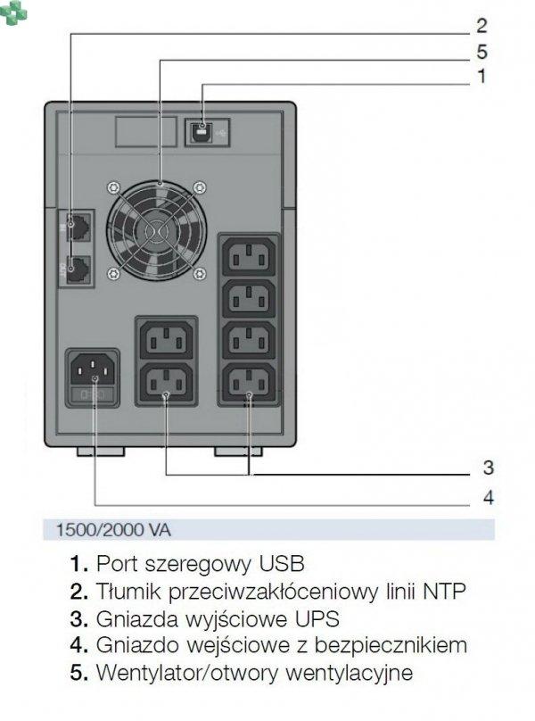 NPR-2000-MT UPS NETYS PR MT 2000VA/1400 W /AVR/LCD/NTP/USB/6XIEC /Tower