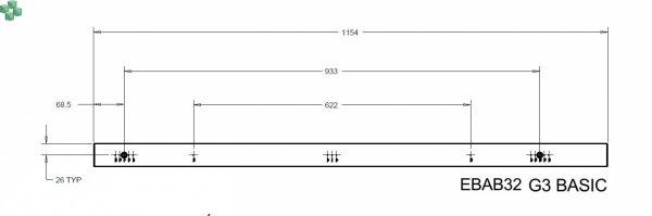 EBAB32 Listwa PDU EATON ePDU BA 0U (309 32A 3P) 24XC13:6XC19