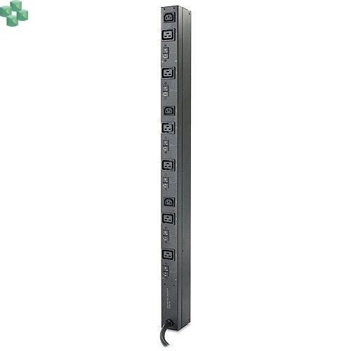 AP7555A Rack PDU, Basic, Zero U, 22kW, 400V, (6) C19 & (3) C13