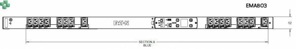 EMAB03 Listwa PDU Eaton ePDU MA 0U (C14 10A 1P) 16xC13 - zarządzalna