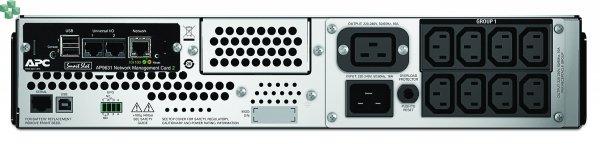 SMT2200RMI2UNC APC Smart-UPS 2200 VA LCD do montażu w szafie, 2U, 230 V z kartą sieciową AP9631