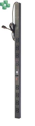 AP7850B Monitorowana listwa zasilająca PDU do montażu w szafie, zero U, 10 A, 230 V, (16)C13