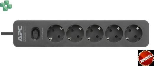 PME5B-GR Listwa zabezpieczająca 5 x SCHUKO - APC Essential SurgeArrest 5 Outlet, Black, 230V, SCHUKO