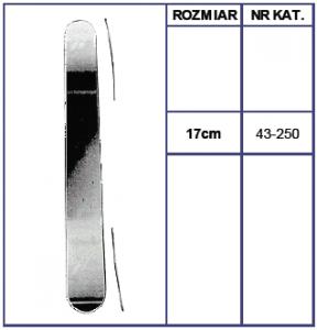 Szpatułka Laryngologiczna Metalowa Mayo