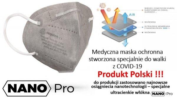 Maska KN95 FFP2 opak.50 szt NANO PRO