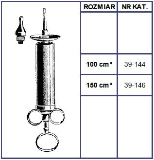 Strzykawka Metalowa Jeanette - 100ml lub 150ml