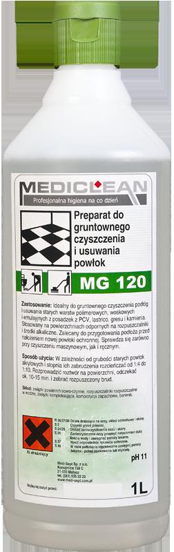 Preparat do Gruntownego Czyszczenia i Usuwania Powłok Ochronnych MG-120 - Różne Pojemności 1l, 5l