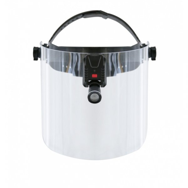 Bezprzewodowa Lampa Typu CLAR LED Zasilanie USB na Przyłbicy