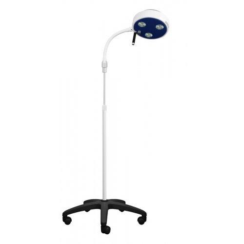 Lampa Badawczo-Zabiegowa FLH-D3 R LED ze Statywem na Pięciu Kółkach (z Gęsią Szyją, Bezcieniowa)